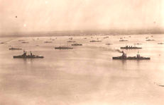 Fleet of ships at sea - First shot - Rome 1925