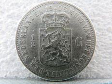 The Netherlands – ½ guilder 1906 Wilhelmina – Silver