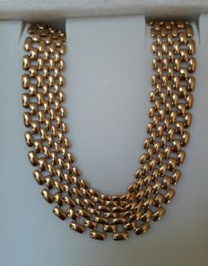 WOMEN'S NECKLACE FROM THE 1930'S IN 18 KT GOLD, TAILOR MADE
