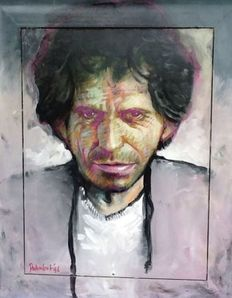 Peter Donkersloot - portrait Keith Richards