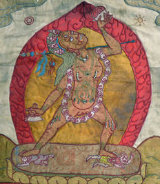 Naro Dakini applications thangka - Tibet/Mongolia - first half of the 20th century