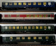 Märklin H0 - 4051/4052/4054/4026 - 2x passenger carriages, 1x dining carriage, 1x luggage carriage, all with interior and stabilised LED lighting and LED connect lighting (30)