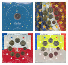France – year packs/ year collections 2002/2011 (4 different ones)