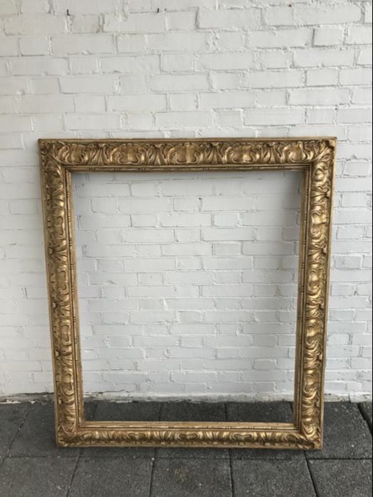 Gold-coloured embellished wooden frame, late 19th century