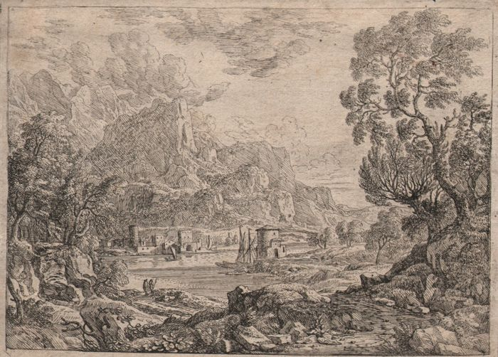 Felix Meyer ( Swiss  1653 -- 1713 ) - Mountainius river landscape - Ca. 1690