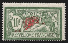 France 1925 - Merson 10 francs green and red - Yvert 207