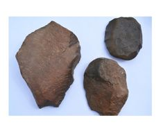 3 Paleolithic Proto-Biface - 18,5, 14 and 14cm
