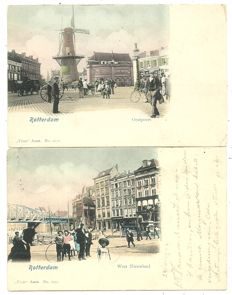 Collection of Dutch postcards Rotterdam 150 x