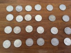 France – 5 Francs 1960-1965 (lot of 25 coins) – Silver