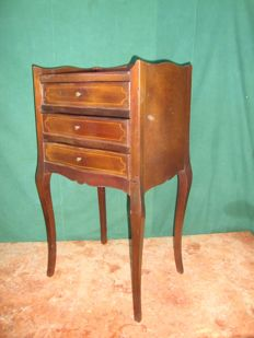 A mahogany bedside table, circa 1900