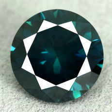 Greenish blue diamond – 1.38 ct, VG/VG/VG