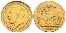 Great Britain – sovereign 1/2 1914 -