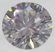 0.50 ct, VS2, colour :H, *** NO RESERVE *** Round Brilliant , 3VG, 4.92 - 4.89 X 3.18