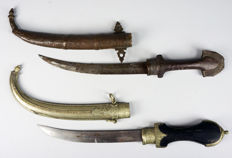 Lot with 2 Berber daggers (Koumya) - Morocco - Mid 20th century