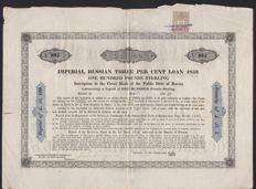 Imperial Russian Thee Per Cent Loan 1859 - £ 100