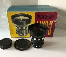 Mir-3 3.5/65mm, Kiev-88/salut in box with certificate?
