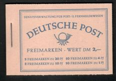 Berlin 1952 - 'Buildings' stamp booklets in unfolded condition - Michel MH 2