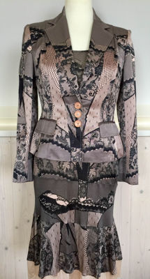 Christian Dior silk dress with jacket