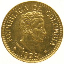 Colombia – 2½ Pesos 1924 – gold