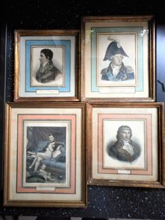 4 prints by various artists - Napoleon and others - 19th century