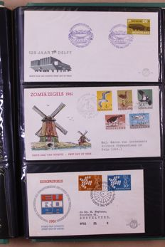 Netherlands and Overseas 1900/1993 - Batch of FDCs and stamps in 10 albums, 7 stock books and 2 pre-print albums
