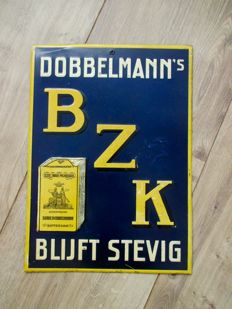 Advertising sign for Dobbelmann's BZK - circa 1940s/50s