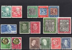 BRD 1959/1956 - Selection on stockcards