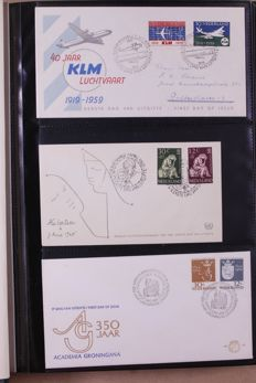 The Netherlands 1959/1990 – Batch of First Day Covers and covers in 12 albums