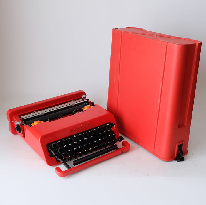 Ettore Sottsass U0026 Perry King For Olivetti U2013 Valentine Typewriter In  Original Case