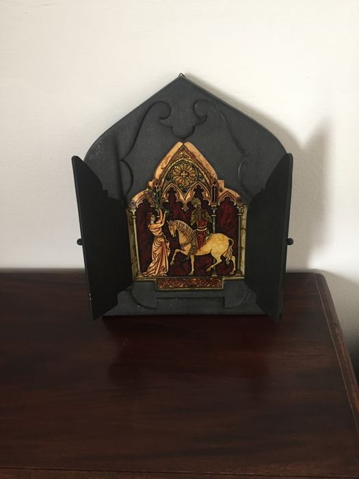 Wooden icon - painted in gold - from Romania