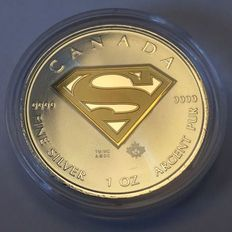 Canada – 5 Dollars 2016 'Superman' in the gilded version – 1 oz silver