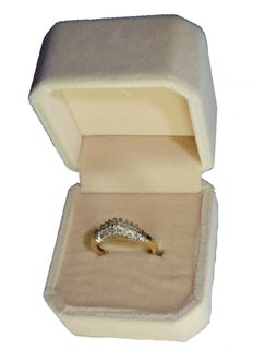 Splendid gold ring with 3 rows of diamonds, 0.50 ct