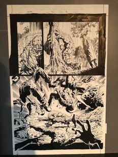 Original Art Plate By Mike Deodato, Jr. - Hulk #70 - Page 9 - (2004)