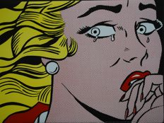 Roy Lichtenstein (after) - Crying Girl