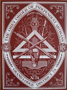 Shepard Fairey (OBEY) - Order of independent artisans (red)