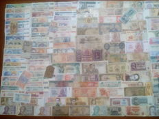 World - 240 world banknotes + Zimbabwe 10 TRILLION 10,000,000,000,000 dollars 2008