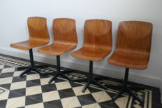 Thur-Op-Seat – lot of 4 vintage children's chairs.