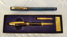 Hachette Swarovski - Waterman M vintage fountain pens.