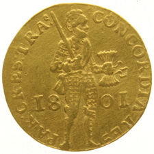 The Netherlands (Batavian Republic) - gold ducat 1801 - gold