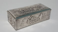 Antique german silver plated jewelry box  - ca.1950