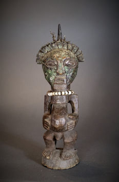 African Tribal SONGYE Minkisi figure. Democratic Republic of the Congo.