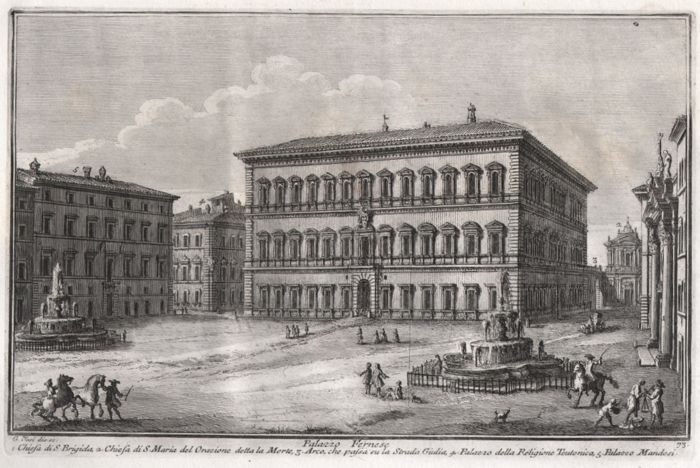 Guiseppe Vasi (1710-1782) together with Giovanni Piranesi (1720-1778)  - Palazzo Farnese - 1750