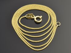 "18k Gold Necklace. Chain ""wheat"" - 50 cm"