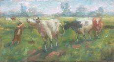 Unknown (20th century) - Cows in a landscape