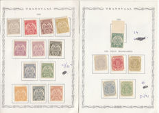 Transvaal 1885/1901 - Collection of reprints on pages
