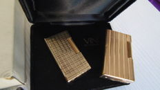 S.T. Dupont high end gold, + Vinci Paris Plaque gold