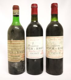 1x 1967 & 2x 1978 Chateau Lynch Bages, Pauillac GCC - 3 bottles of 750ml