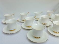 Royal Albert - Ten cups and saucers Val d'or