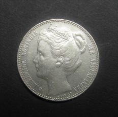The Netherlands – 1 guilder 1904, Wilhelmina – silver.