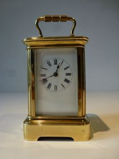 Miniature travel clock - late 20th century.